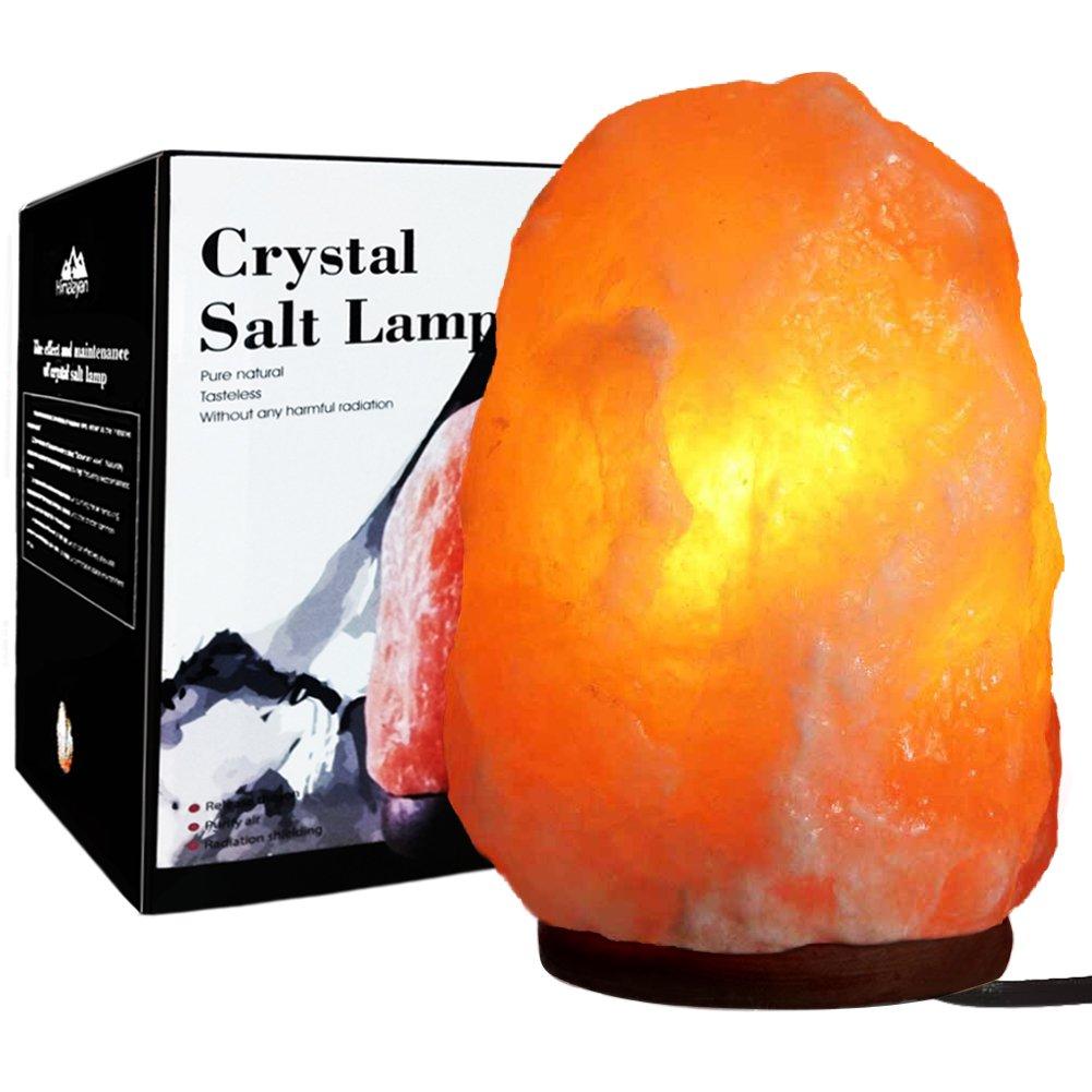 Unilamp Himalayan Salt Lamp, Natural Himalayan Crystal Salt Light with 3 Bulbs, Salt Rock Lamp Hand Carved Salt Light with UL-Approved for Air Purifying, Lighting and Decoration(10 inch, 7-11 lb)