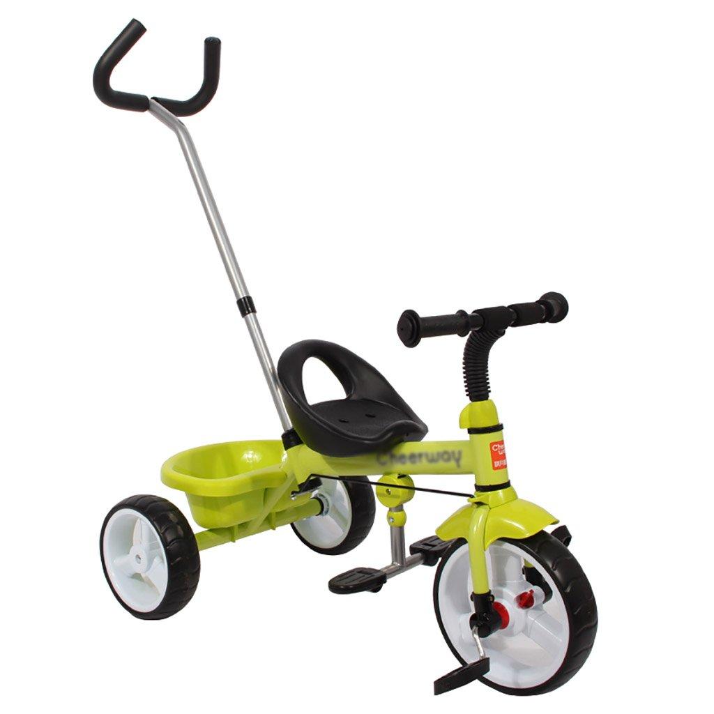 子供用トライク、三輪車の乗り物バイク、赤ちゃんの滑り自転車、おもちゃの自転車、自転車の子供、フットペダルの3つの車輪 (色 : B) B07DVXPXYLB