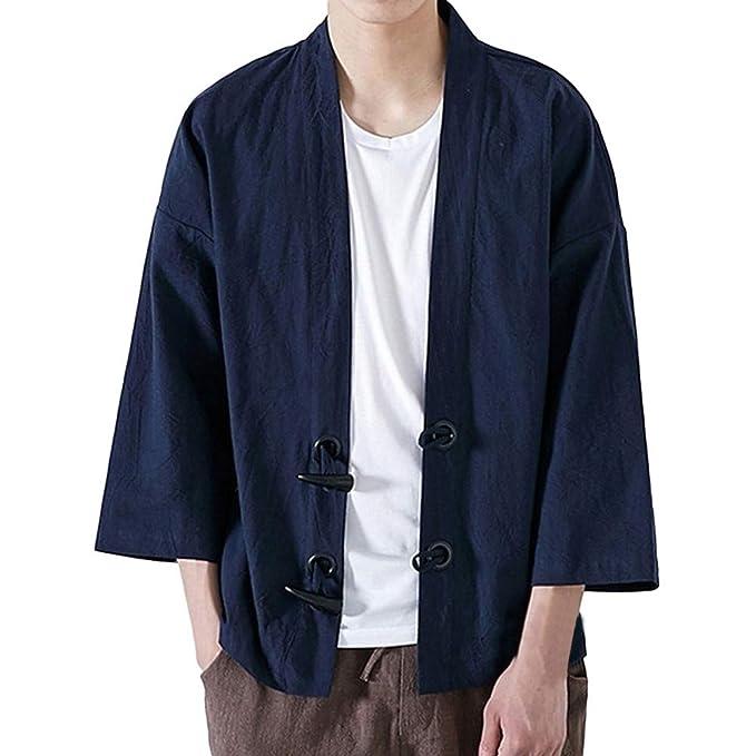 JiaMeng Invierno Moda Yukata Japonesa Escudo Casual Kimono Outwear Algodón Vintage Loose Top Pelaje Parka con Capucha Chaqueta