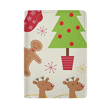 Vickerman Christmas Ornaments Leather Passport Holder Cover Case Blocking Travel Wallet