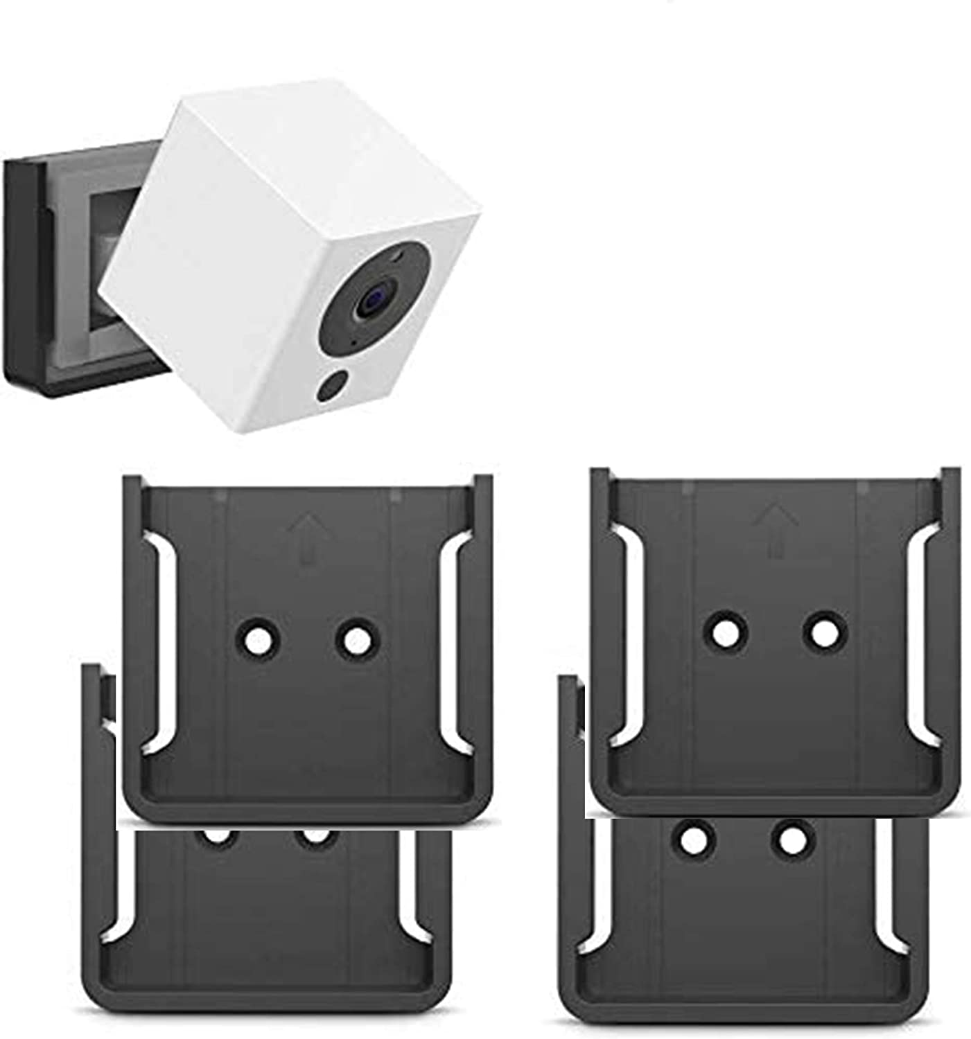 White Strong Adheasive Mount for Wyze Cam No Drilling No Mess Easy to Install 2PACK Wall Mount Kit for Wyze Cam V2//V1 with Screwless and VHB Stick On No Tools Needed