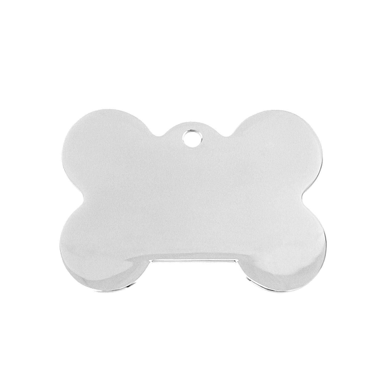 3 Sizes Pet Tags Dog Bone Charm Id Dog Tag DIY Name Print Blank Pendants Mirror Polish Stainless Steel 10 Pcs,36x49