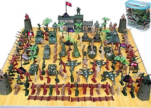 Girl Army Tank (146 PCS WWII Set Action Figures Army Men Bucket Playset with War Soldiers Tanks Planes Flags and More,Toy Soldiers Set,Gift for Kids Boys Girls)
