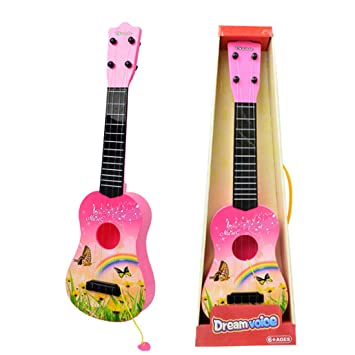 YVSoo Guitarra para Niños, Guitarra Juguetes Ukelele Guitarra Eléctrica Instrumentos Musicales Educativos Simulación Juguete Regalo