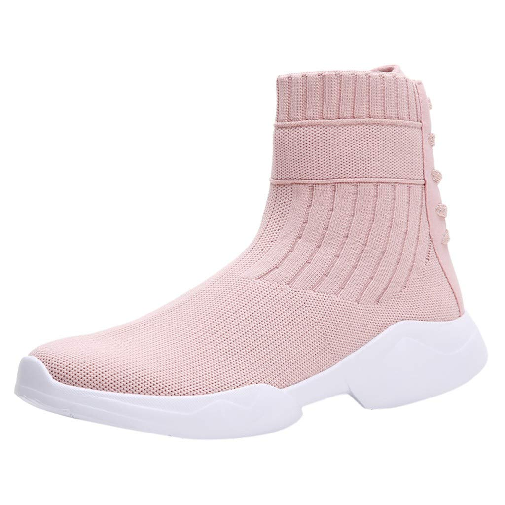TIFENNY Fashion Socking Shoes for Women High Top Sneakers Mesh Casual Slip-On Sport Shoes Student Runing Breathable Shoes by TIFENNY_Shoes