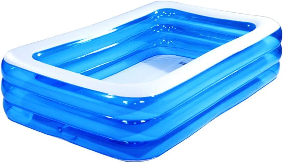 Baby Piscina Infantil inflable de PVC transparente Inicio Piscina de la bola de baño más grueso ( Tamaño : 260*170*55cm )