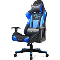 GTRACING Gaming Chair Racing Video Game Chair Backrest and Height Adjustable E-Sports Chair Ergonomic Chair for Pro Gamers GT000 Blue