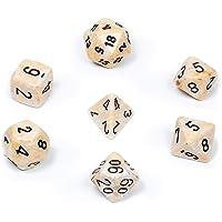 Chessex CHX27402 Dice-Marble Ivory/Black Set