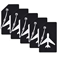 5Pack Silicone Luggage Tag with Name ID Card Perfect to Quickly Spot Luggage Suitcase by CPACC