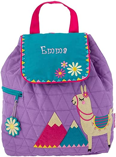 Personalized Quilted Backpack Llama