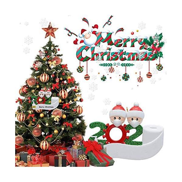 Afaneep Ornamenti Natalizi Decorazioni DIY 2 Persone con Nome Personalizzato Sopravvissuto Personalizzato, Ciondolo Albero di Natale, Famiglia di Decorazioni Natalizie Regali di Festa 2 spesavip