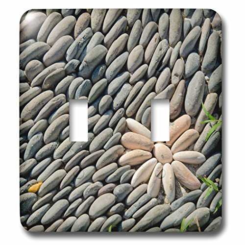 Danita Delimont - Patterns - Indonesia, Mayura Water Palace. Stone altar detail with rock flower. - Light Switch Covers - double toggle switch (lsp_225747_2) by 3dRose