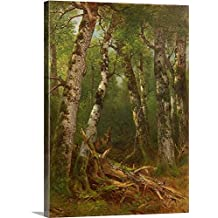 Asher Durand Premium Thick-Wrap Canvas Wall Art Print entitled Group of Trees, 1855-77