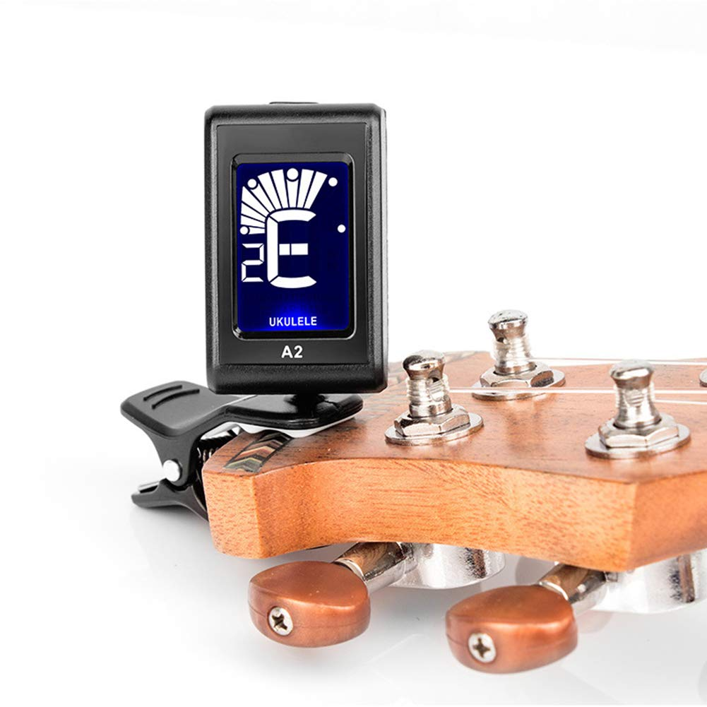 Sguan-wu Sintonizador Automático Acústico Guitarra Eléctrica Cromático Violín Bajo Corrector de Ukelele - Negro: Amazon.es: Instrumentos musicales