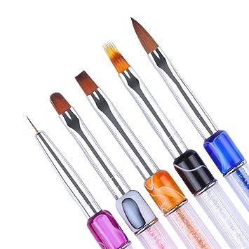 nicole diary nagel set uv gel nagel zeichnung pinsel nail art design farbverlauf liner strass griff - Gelnagel Muster