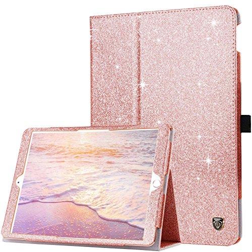 (BENTOBEN iPad Air 3 Case/iPad Pro 10.5 Case with Pencil Holder Folio Stand Smart Auto Wake/Sleep Glitter Slim Protective iPad Cover for 10.5 Inch iPad Pro 2017/iPad Air 3rd Generation 2019 Rose Gold)