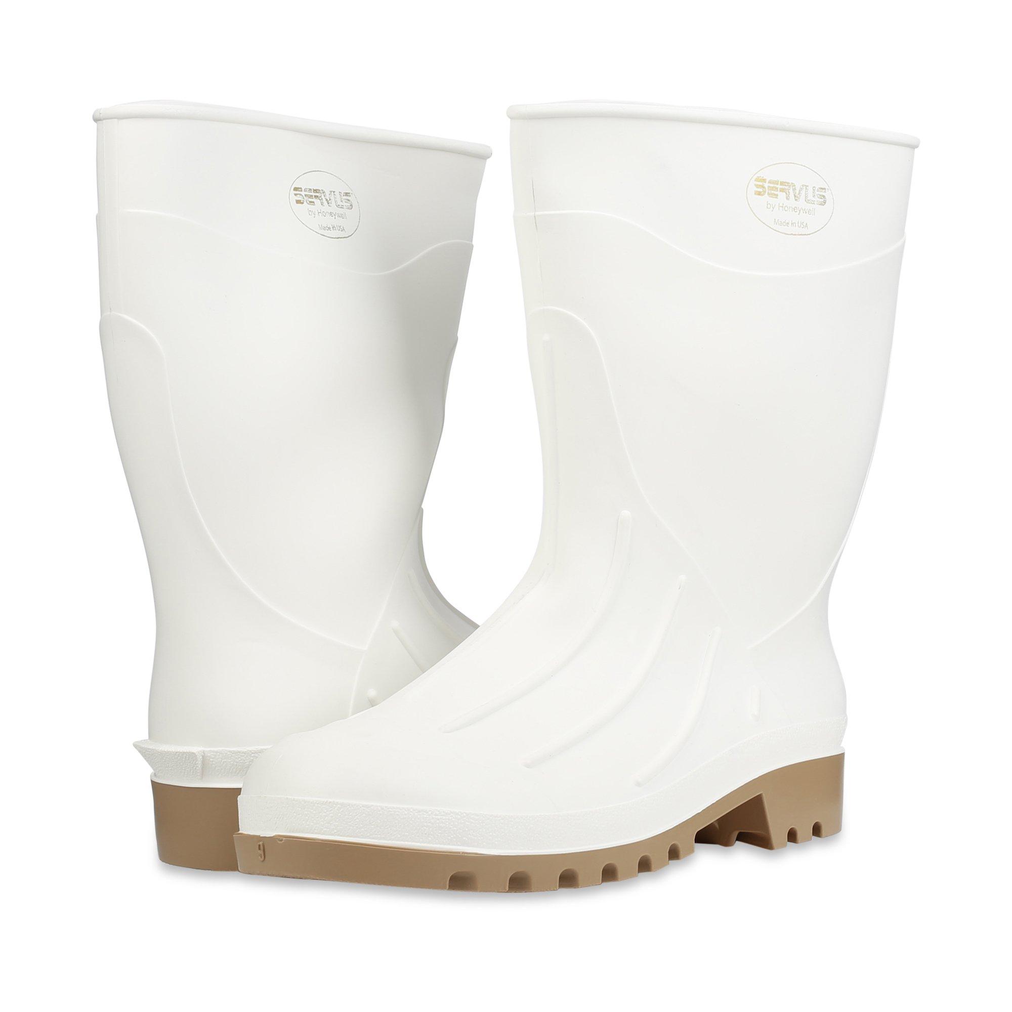 Servus 12'' PVC Polyblend Soft Toe Shrimp Boots, White (74928) by Honeywell (Image #7)