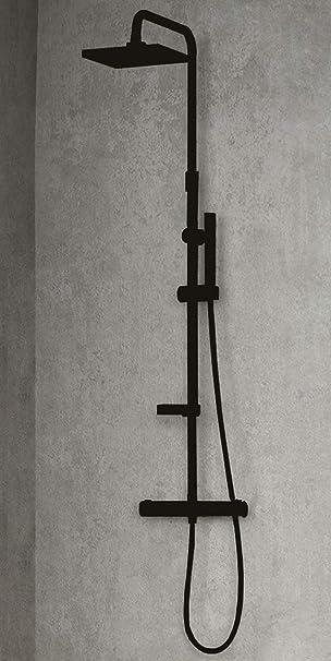 Columna de ducha equipada Novellini Easy 2 multifunción de latón ...