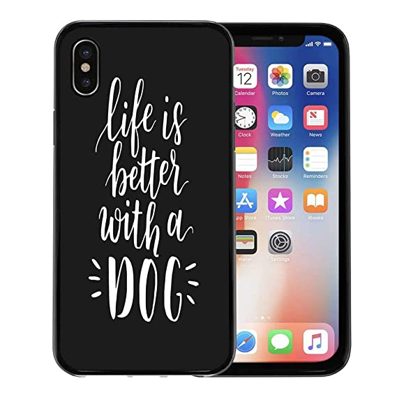 online store 41f3c c85a2 Amazon.com: Semtomn Phone Case for Apple iPhone Xs case,Dog Adoption ...