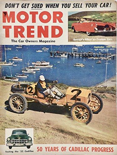 1952 Motor Trend Magazine 50 Years of Cadillac Progress - Nash Rambler/Le Sabre/XP-300 Plus More - Rare - Collectible