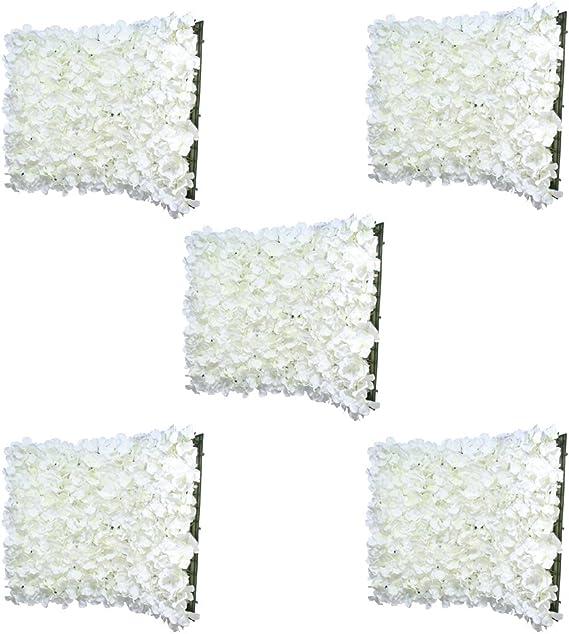 Cr/ème Sharplace Panneaux Mur De Fleur Artificielle D/écor De F/ête Sc/ène Fourniture De Mariage Suspendu