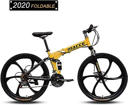 26 Pulgadas Bicicleta De Montaña Specialized Mtb Plegable Engranajes De 24 Velocidades Frenos De Doble Disco Bicicleta De Montaña Bicicleta De Trail Cuadro De Suspensión Completa De Acero Con Alto: Amazon.es: Deportes