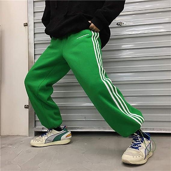 デニム カーゴパンツ メンズ 大きいサイズ ゆったり ワイド ウエストゴム デニムパンツ ジーンズ 裏起毛 M L XL (Color : グリーン, Size : XL)