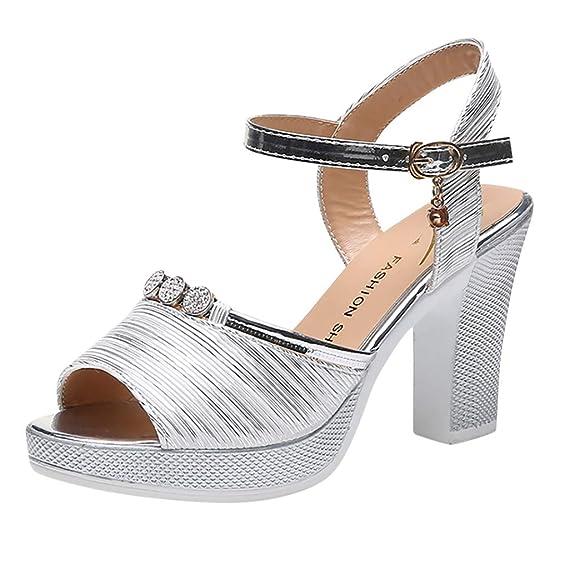 sandales talon plate forme cuir