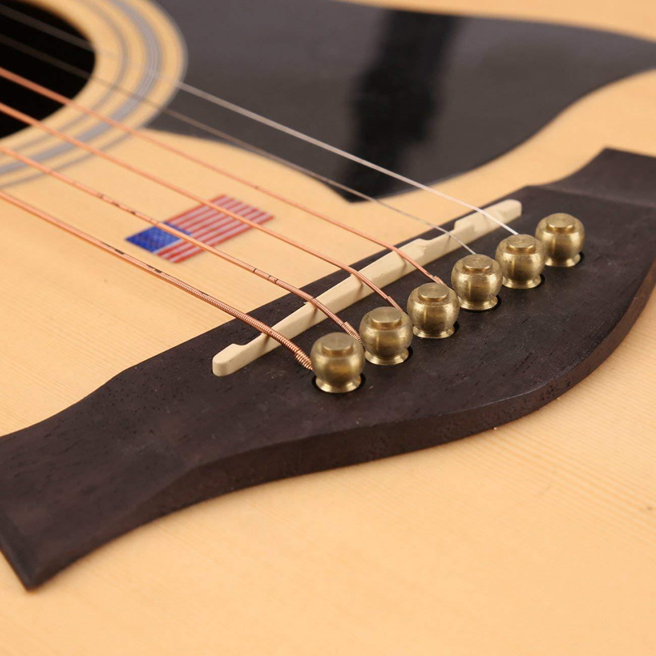 Fannty Cobre amarillo 29.5 5.1Mm 6 piezas Pines de puente de lat/ón macizo para cuerdas de guitarra ac/ústica Accesorios Diy Env/ío gratis 8