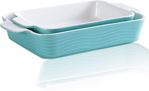 JH JIEMEI HOME Rectangular Casserole Dish Ceramic Baking Pan for Cooking