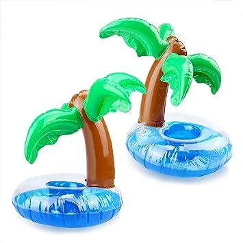 Rocita Portavasos Hinchable Flotadores de Bebidas para Piscina y diversión acuática (cocotero) : Amazon.es: Juguetes y juegos