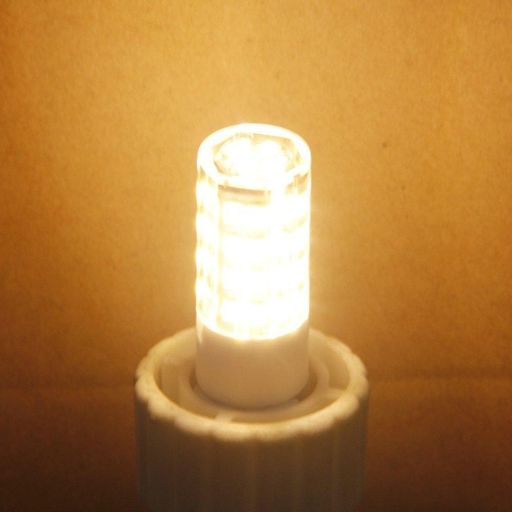 Feiji G8 Led bulb 120V, 3000K Warm White T4 G8 Bi-pin base Xenon JCD type led halogen bulb replacement 35W to 40W equivalent-5packs (Warm Whit) by feijideng (Image #6)