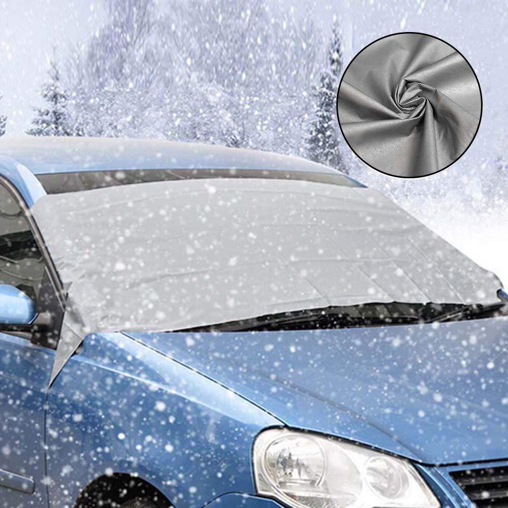 Windschutzscheibenabdeckung Auto Windschutzscheibe Winter Abdeckung Frost Abdeckung Windschutzscheibe Abdeckung Schneefang Windschutzscheibe Abdeckung Anti-Schnee Wind Frost UV-Schutz Optima Marysa