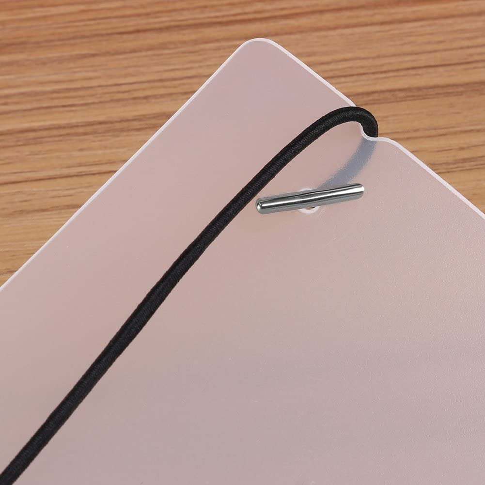 A7 3 Types 6 Ring Stretchable Binder Cover White for Loose-leaf Notebook Book Scrapbook Photo Album
