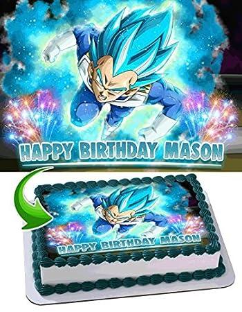 Dragon Ball Super Vegeta Anime Z Saiyan Edible Cake