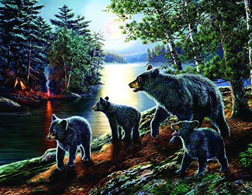 Bear Moon 1000 PieceLarge Jigsaw Puzzle by SunsOut