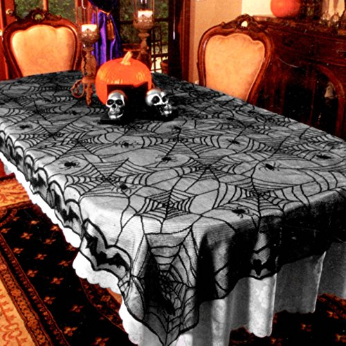 Spider Web Lace Tablecloth Decoration]()