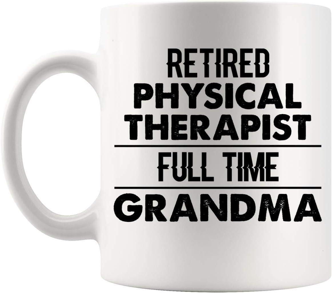 N\A Jubilados Jubilados - Terapeuta físico Jubilado Abuela Jubilación Regalo Taza de 11 oz Taza - Día de la Madre Mujer Abuela Jubilada Jubilación Ideas de Regalo para Mentor Camiseta