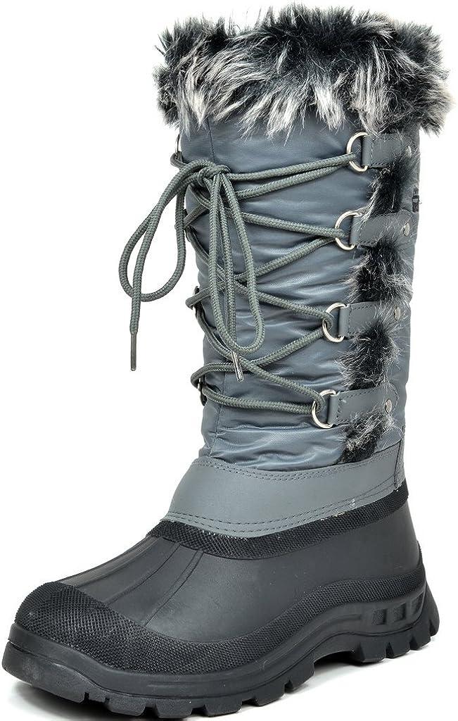 DREAM PAIRS Women's Catskill Black Knee High Winter Snow Boots