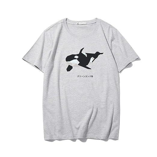 H.ZHOU Camisetas para Hombre 100% algodón Verano Impresión 3D ...