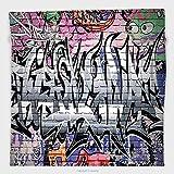 world atlas street art graffiti - Vipsung Microfiber Ultra Soft Hand Towel-Rustic Decor With Hooks Graffiti Grunge Art Several Creepy Underground City Paint Multi For Hotel Spa Beach Pool Bath