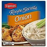 Lipton Recipe Secrets Soup and Dip Mix, Onion 2 oz (Pack of 6)