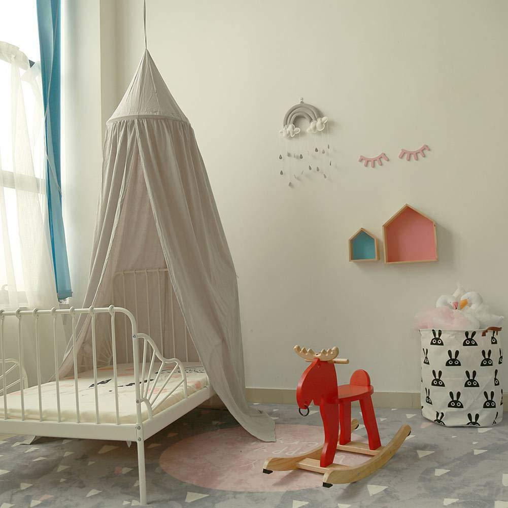 BOBORA Baby Kids Room Decoration Play Tent Cotton Mosquito Net Children Princess Round Dome Height 240CM Children Bed Canopy
