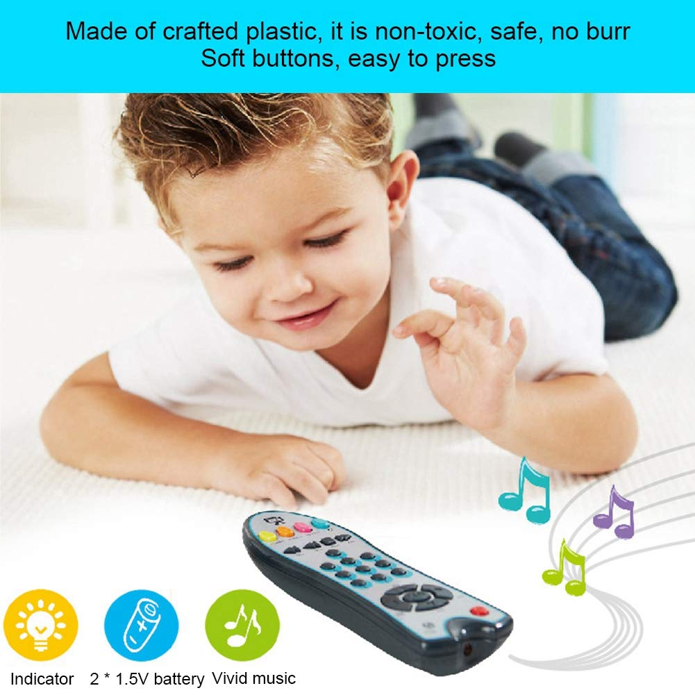 eroute66 Baby Music Mobile Phone TV Remote Control Electric Numbers Learn Machine Toy Gray