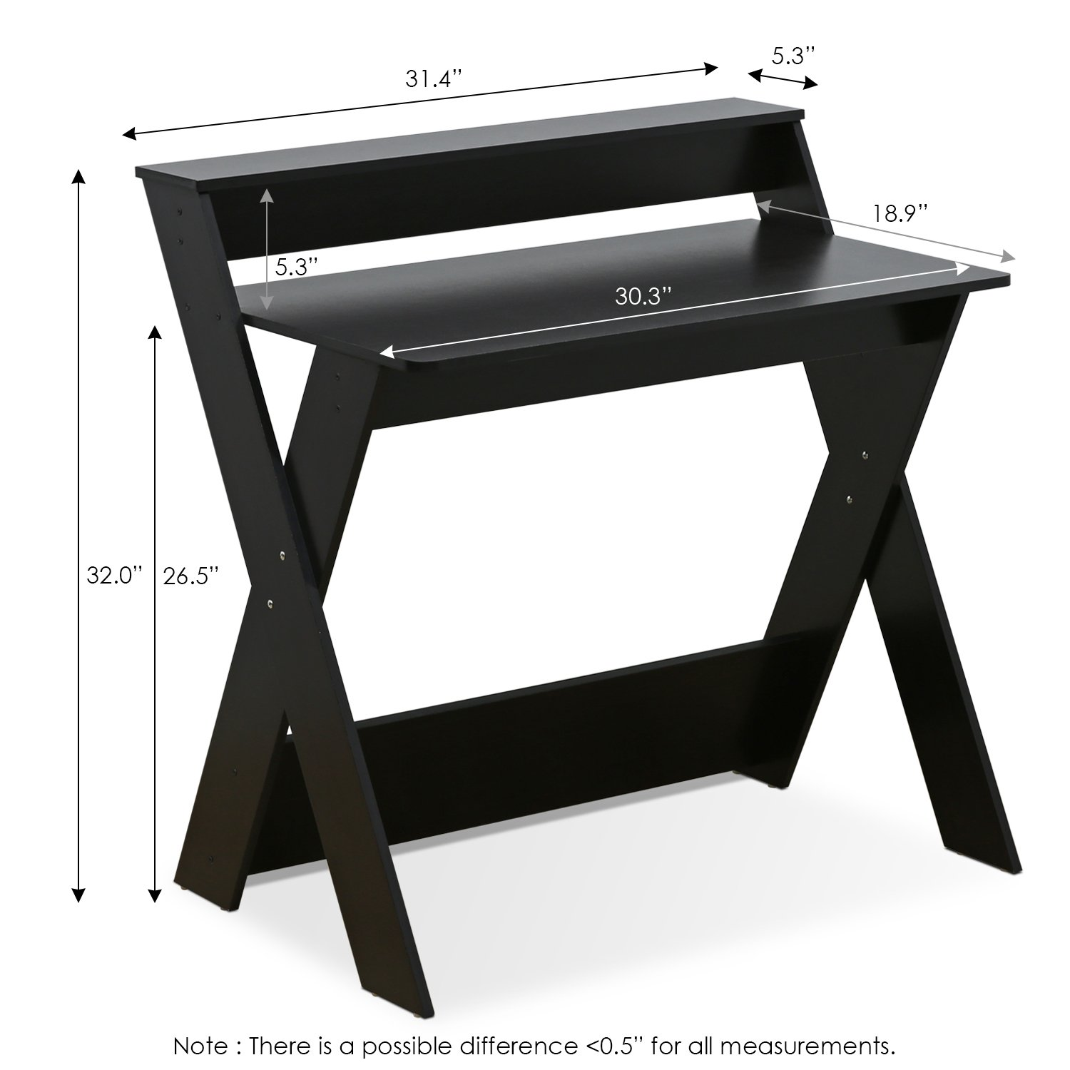 Furinno 16047EX Simplistic Criss-Crossed Home Office Study Desk by Furinno (Image #2)
