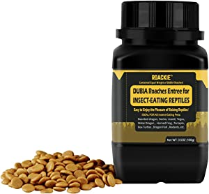ROACKIE Dubia Roaches Entree Bearded Dragon Food, Leopard Gecko Food, Made from Dubia Roaches of Equal Weight