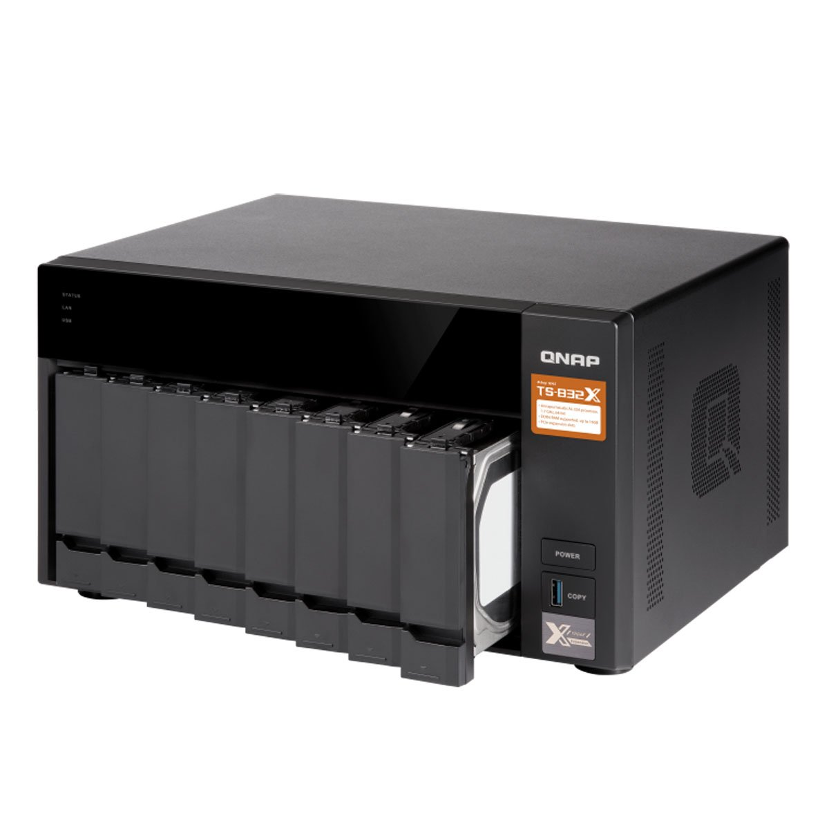 QNAP TS-832X-8G-US High-Performance 8-Bay 64-bit NAS with Built-in 2 x 10GbE (SFP+) Network, Hardware Encryption, Quad Core 1.7GHz, 8GB RAM, 2 x 1GbE by QNAP (Image #2)