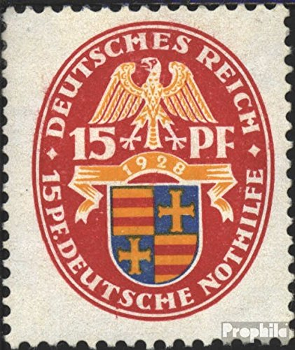Prophila Collection Deutsches Reich 427X, stehendes Wasserzeichen 1928 Nothilfe:Wappen (Briefmarken für Sammler)