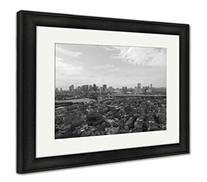 Amazon.com: Ashley Framed Prints Boston City Skyscrapers and ...