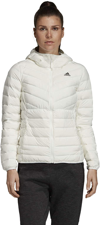 adidas Originals Damen Varilite 3-Streifen Soft Hooded Daunenjacke Weiß